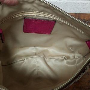 Coach Bags - Coach Signature C Tan and Pink Small Shoulder Bag